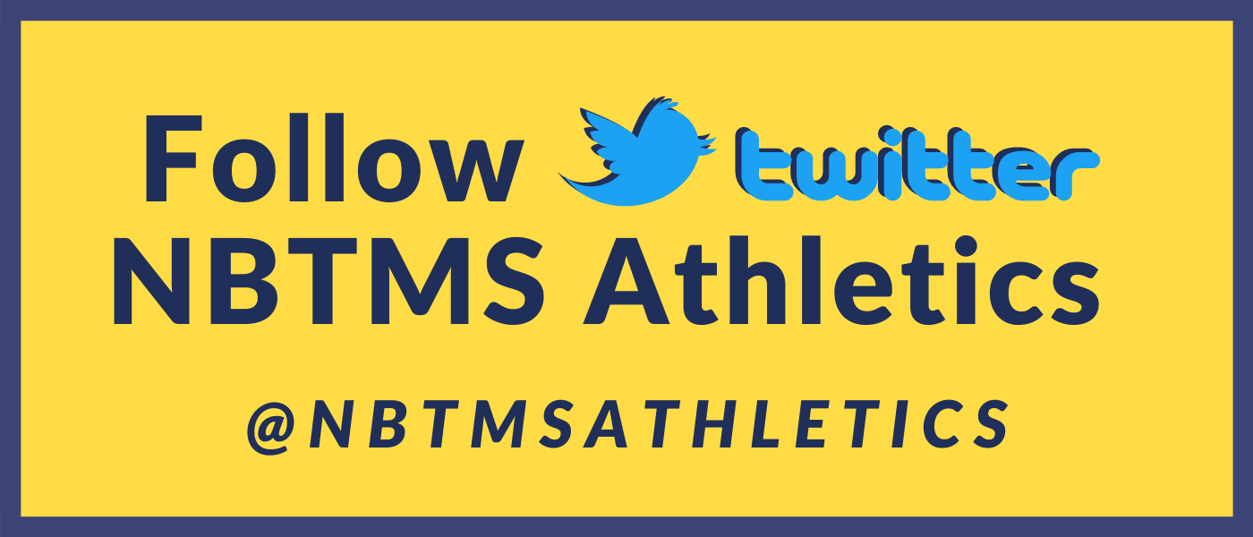 Follow Us on Twitter @NbtmsAthletics