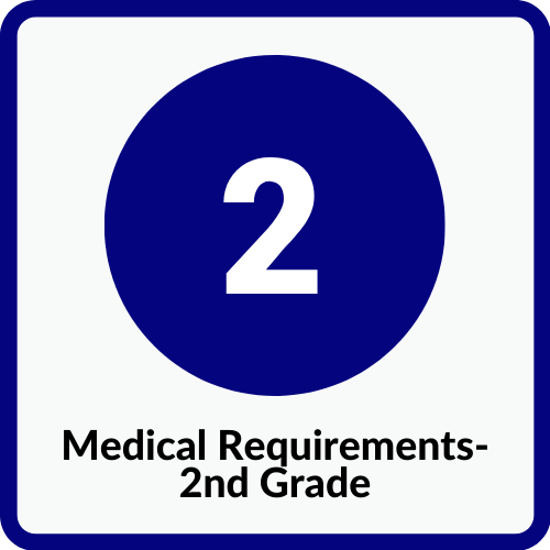 2nd Grade Medical Requirements
