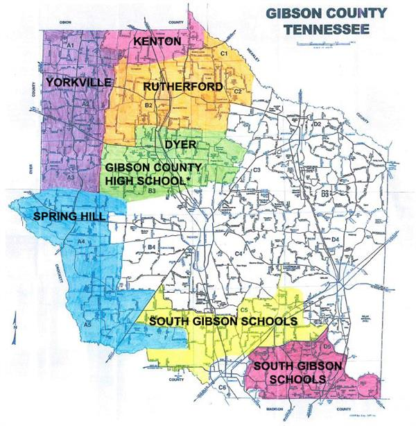 Gibson County Special School District Boundary Map