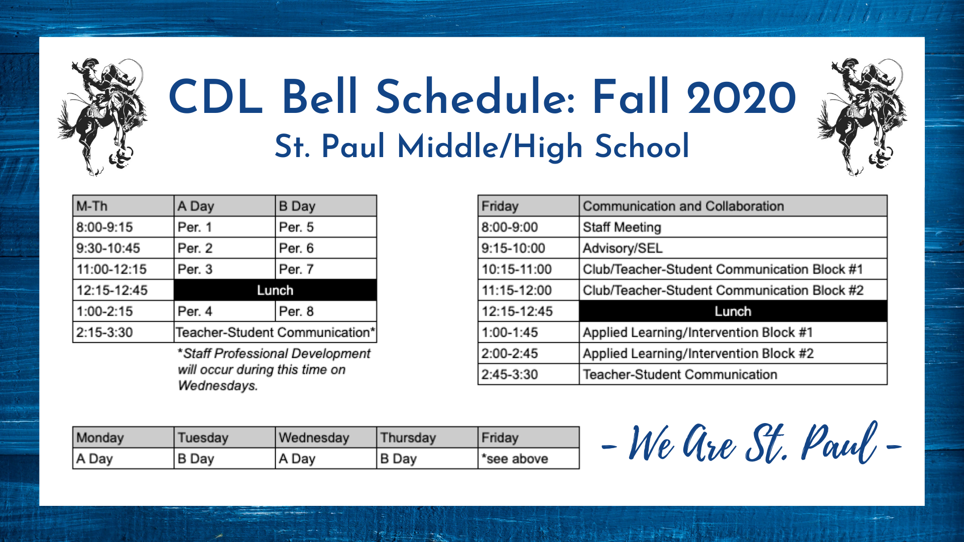 CDL Bell Schedule
